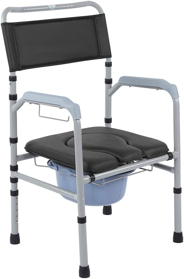 Lightweight Adult Toilet Chair, Aluminum Alloy Bedside Height Ad