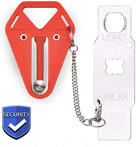 Portable Door Locker Door Lock from Inside Door Travel Lock, Lockdown Door Security for Home, Apartment, Living Motel - Additional Protection, AirBNB, Hotel, Home Door Locks