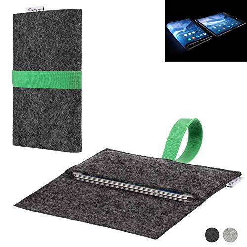 flat.design Handy Hülle Aveiro für Royole FlexPai passgenaue Filz Tasche Case Sleeve Made in Germany