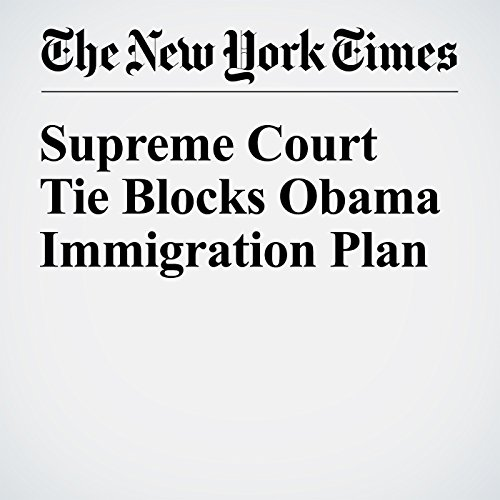 Supreme Court Tie Blocks Obama Immigration Plan audiobook cover art