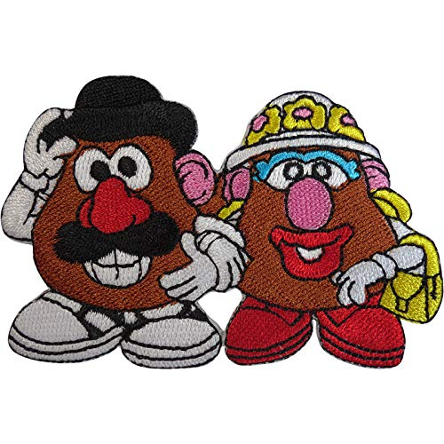 ELLU Disney Toy Story Mr and Mrs Potato Head Patch Iron On Sew On Embroidered Badge