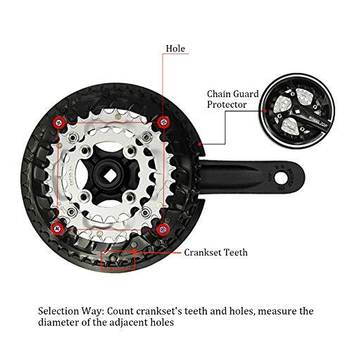 Kettenschutzscheibe Kunststoff Kettenrad Kurbel Abdeckung schwarz für Mountainbike Fahrrad - 6