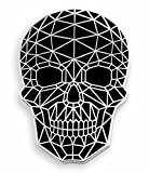 Pinsanity Wire Frame Geometric Skull Enamel Lapel Pin