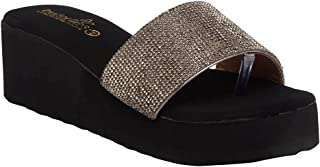 Butterflies Steps Latest Collection, Comfortable Wedges Sandal for Women's & Girl's(Grey)(GHS-0084GY)
