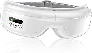 アイウォーマー アイマッサージャー 温熱/エア/振動多機能 五つのモード 音楽聞ける USB充電式 bluetooth 折りたたみ 目元エステケア ホットアイマスク 誕生日 プレゼントギフト 男女兼用 女性 メンズ ホワイト