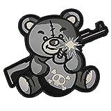 Van Os Emblema 3D PVC Terror Teddy gris de velcro parche Airsoft equipo del ejército alemán 7,5 x 10 cm
