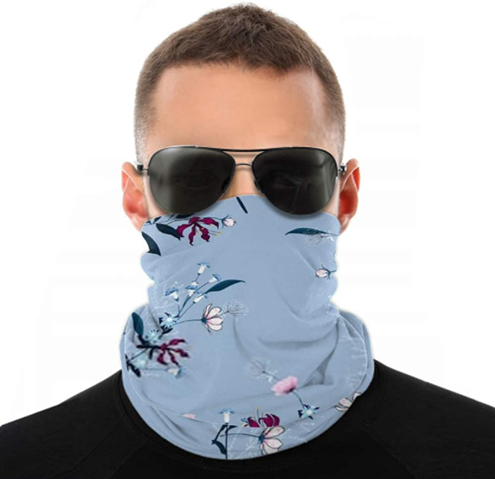 Headbands For Men Women Neck Gaiter, Face Mask, Headband, Scarf Beautiful Floral Pattern Many Kind Flowers Turban Multi Scarf Double Sided Print Cycling Face Mask For Sport Outdoor