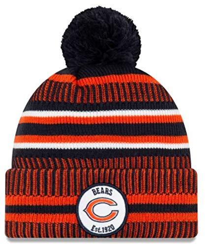 New Era Chicago Bears 2019 Sideline Home Pom Sport Knit Hat