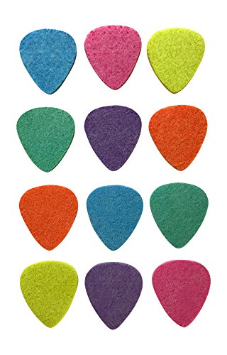 BoloPick Felt Picks for Ukulele, Guitar, and Bass (12 Pack, Multi Fiesta)