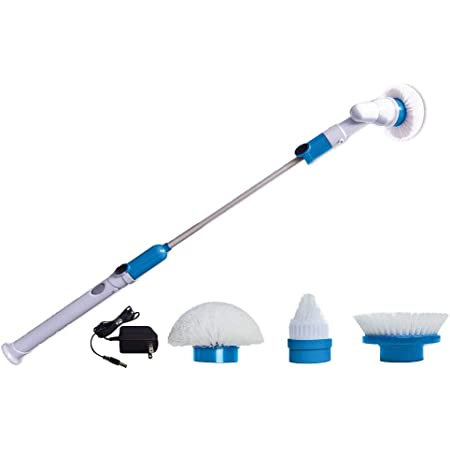 Hurricane Spin Scrubber Cordless Rechargeable Power Scrubber by BulbHead (1 Pack)
