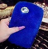 Losin Plush Case Compatible with Samsung Galaxy S10 Case Fashion Luxury Diamond Bowknot Cute Fuzzy Furry Winter Rabbit Hair Warm Plush Fluffy Fur Soft TPU Back case
