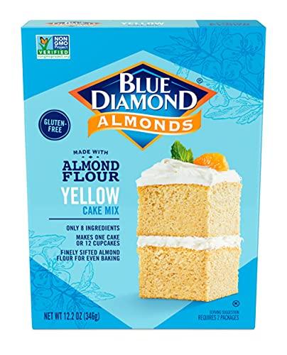 Blue Diamond, Gluten-Free Almond Flour Baking Mix, Yellow Cake, 12.2 ounce box