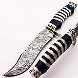 Skokie Knives Custom Hand Made Damascus Steel Hunting Knife Handle Original...