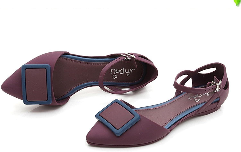 Pit4tk Women Casual Beach Sandals Lady Cute Jelly Sandals Lady Casual Sandals