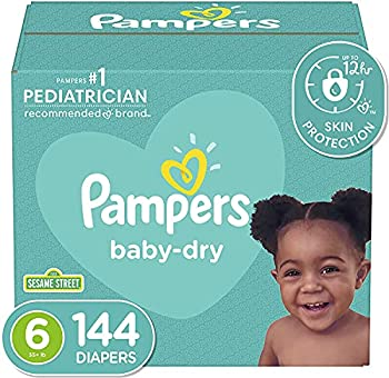 Diapers Size 6 144 Count - Pampers Baby Dry Disposable Baby Diapers ONE MONTH SUPPLY