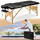 Massage Table Beauty Bed 2 Section, Portable Lightweight Professional Foldable Massage Table