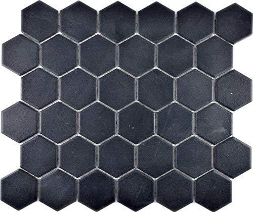 Piastrelle a mosaico esagonali in ceramica, antiscivolo, per doccia, rivestimento da parete per la cucina