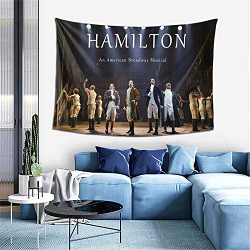 Kinunkn American Musical Hamilton Tapestry Wall Hanging And Art Decoration Tapestry For Wall