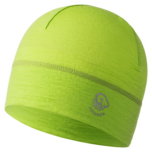 GIESSWEIN Mütze Gamsstein - Helm-Unterziehmütze aus 100% Merinowolle, Bike Cap, helmkompatible Passform für Damen und Herren, Sports Skull Merino Beanie, Fahrradmütze