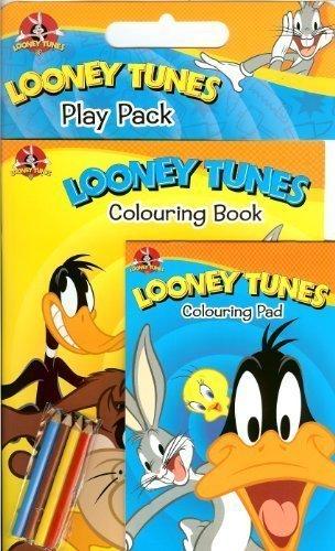 Looney Tunes: Album à colorier et des crayons de couleur Pad avec pack Jouer