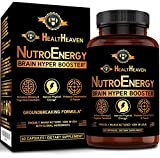 NutroEnergy -Powerful Nootropic, Brain Booster Supplement for Focus, Memory, Clarity, Concentration- Vitamins for Adults with Choline, Theobromine, DMAE, Citicoline, Ginkgo - 60 Caps