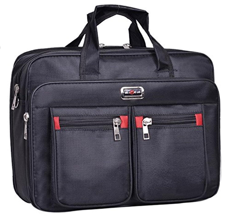 Black Nylon Messenger Bag Shoulder Carrying Case for HP EliteBook 850/755 / HP ProBook 650 655 / Lenovo ThinkPad P51 / P50 / Lenovo ThinkPad P50s / Legion Y520 / Legion Y720 15.6 inch Laptop