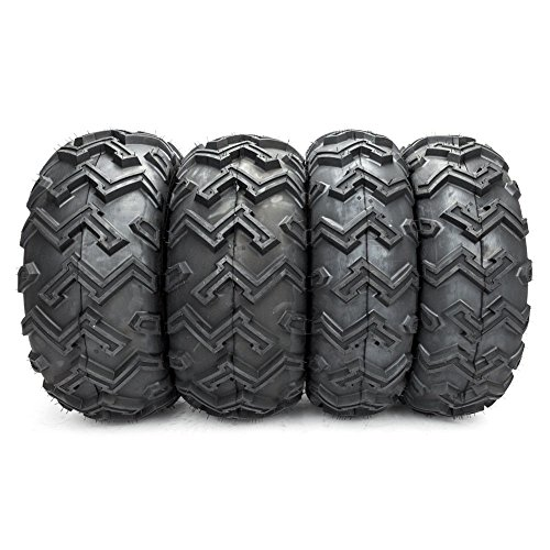 "Complete Set of 4 All Terrain ATV UTV Tires 25x8-12 Front & 25x10-12 Rear 25"" Mud Tires 6PR Tubeless"