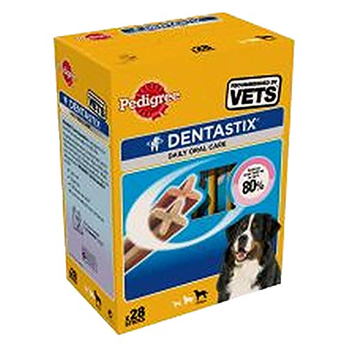 Pedigree Snacks DentaStix Multipack für grosse Hunde (>25kg), 1er Pack (1 x 1.1 kg)