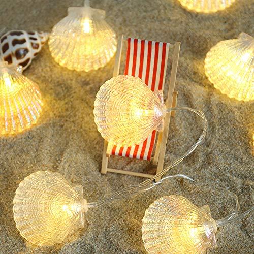 Wankd LED Shell Lichterkette, 10 LED 1.5m Batteriekasten Lichterkette,DIY Dekoration, geeignet für Outdoor, Party, Weihnachten, Garten, Hochzeit