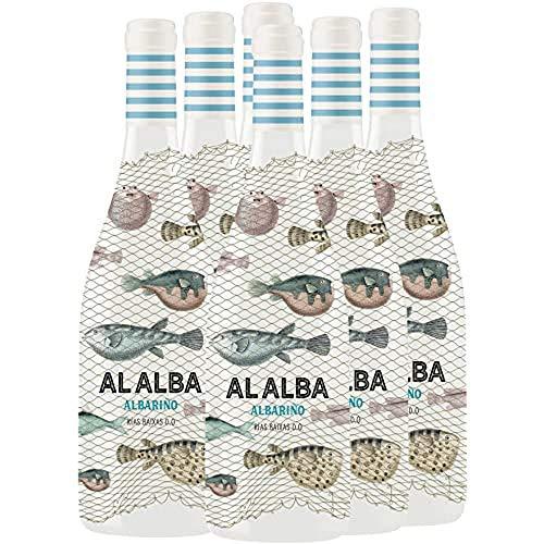Martín Códax Vino blanco albariño Alalba 750 ml - pack de 6 botellas (Total: 4500 ml)