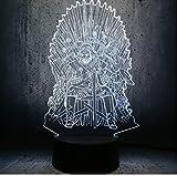 Juego De Tronos 3D Led Night Light Throne Una Canción De Hielo Y Fuego Se Acerca El Invierno Decoración Del Hogar Regalos De Navidad