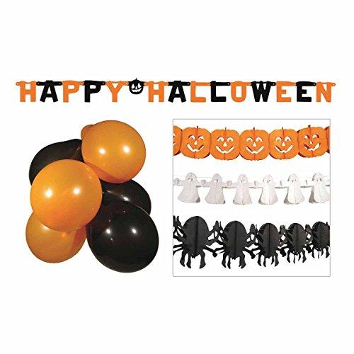 Boland 74588 Halloween Party Set, Orange/Noir/Blanc