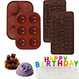 Opopark 4 Pezzi Stampi per Cioccolato Muffin Cupcake Praline Caramelle Stampo per Cioccola...