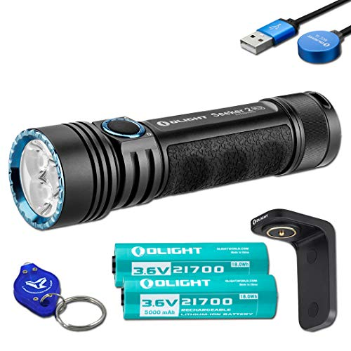 OLIGHT Seeker 2 Pro 3200 Lumen Rechargeable LED Flashlight with 2X Customized...