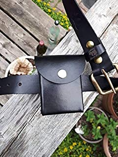 Custom 50 card real leather deck box with belt loop/clip for Yu-Gi-Oh, Magic the Gathering, Pokémon, Cardfight Vanguard and others, Prevent stolen cards with anti theft/theft proof clip, 遊戯王 デッキボックス