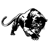 CellDesigns 8' PANTHER Reflective Vinyl Vehicle Bumper Sticker Decal Laptop Luggage Sticker (BLACK)