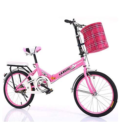 GXLO Klapprad Frauen-Arbeit Erwachsene Erwachsene Ultra Light mit Variabler Geschwindigkeit Tragbarer Erwachsene Kleine Studenten Männlicher Fahrrad Folding Träger Fahrrad - 20 Zoll,B