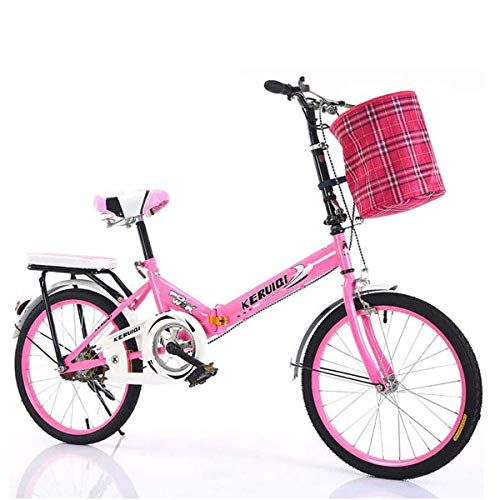 GXLO El Trabajo de luz de Bicicletas Plegables Mujeres Adulto Ultra Velocidad Variable Luz Portátil para Adultos Pequeño Estudiante Masculina Bicicleta Plegable Portador de la Bicicleta,B