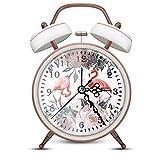 ERYTLLY Twin Bell Alarm Old Fashioned Alarm Clock Vintage Alarm Clock Retro Alarm Clock Big Ben Alarm Clocks Reloj Despertador Backlight Battery Operated Loud Alarm Clock (Alarm Clock(White))