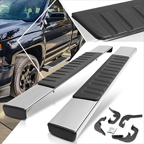 6 Inches Chrome Running Board Side Step Nerf Bar Compatible with Chevy Silverado/GMC Sierra Regular Cab 07-19