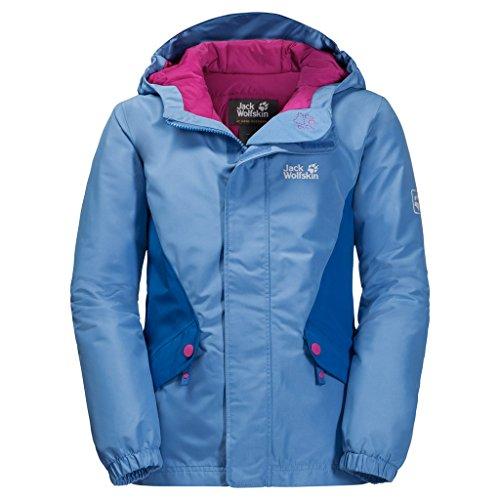 Jack Wolfskin Kinder G Kajak Falls Jkt Winterjackewind-und Wasserabweisend Atmungsaktiv Wetterschutzjacke, Zircon Blue, 116