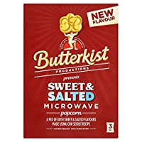Butterkist Microwave Popcorn - Sweet & Salted (3 per pack - 270g) (パックあたり3 - 270グラム)甘く、塩漬け - Butterkistの電子レンジ用ポップコーン