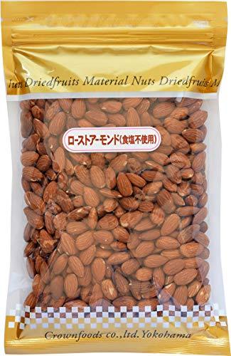クラウンフーヅ ローストアーモンド(食塩不使用) 500g