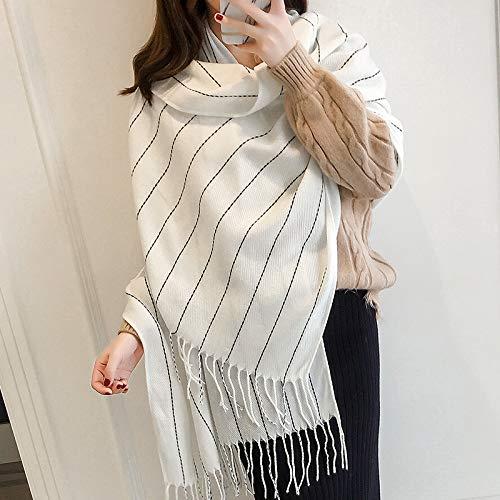 KINMB Thick warme Frauen Schal große Größe Plaid Schal Schal Dual-Use, AO