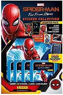 20 Packets Packs of Spider-Man Far From Home Stickers PANINI