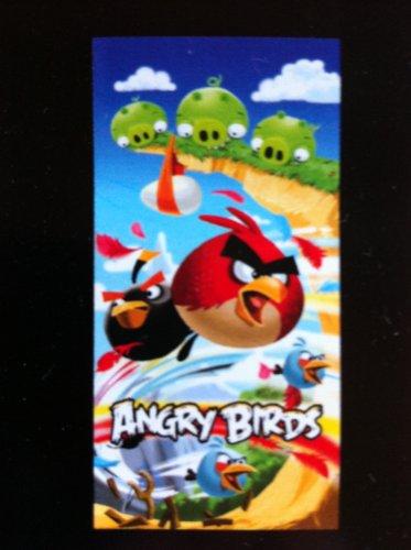 Angry Birds velours-strandtuch de a granel 75 x 150cm, 100%Algodón 🔥