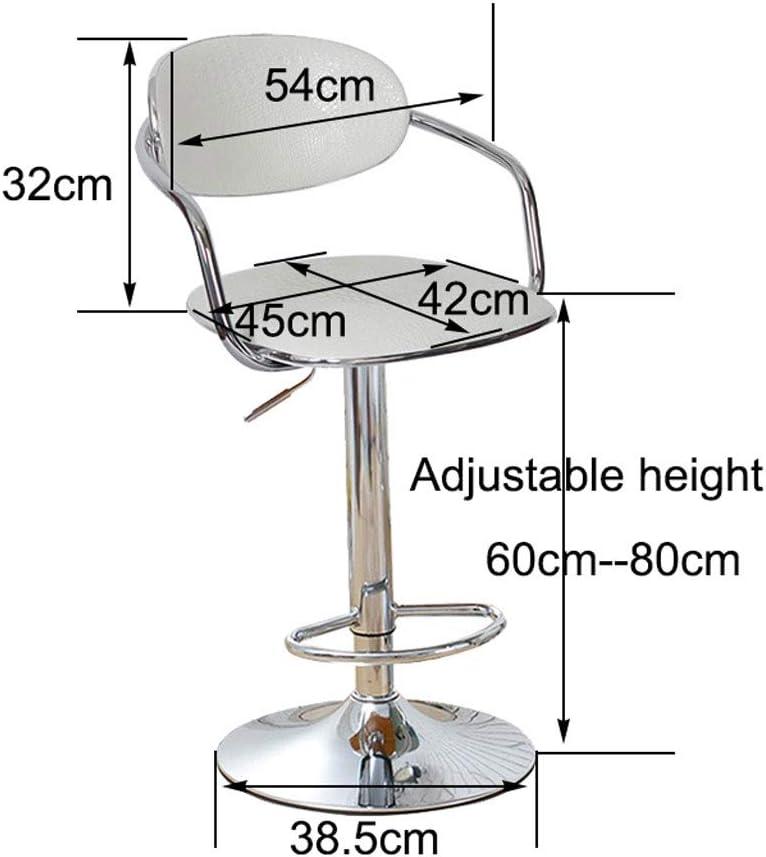 Tabourets Réglable pivotant Faux chaises de bar en cuir, Siège de cuisine en métal Petit déjeuner Salle Tabourets Stool (Color : C) D