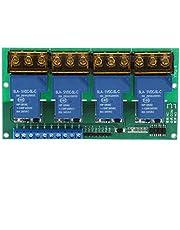 Bedieningspaneel, interferentie Stevige vierwegrelaismodule Handig voor professioneel gebruik voor algemeen gebruik in fabriek voor elektronische componenten(5VDC)