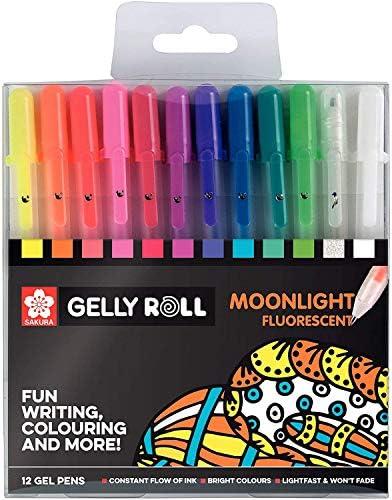 Sakura Gelly Roll Moonlight Fluorescent Gel Pens Pack of 12 product image