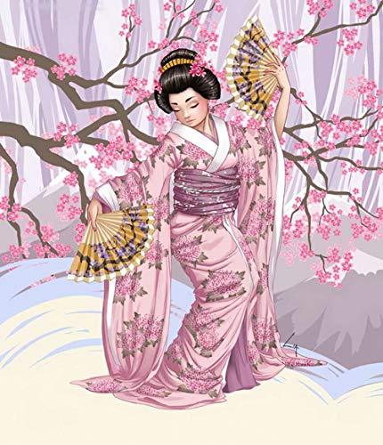 qwwqww Puzzle Mujer Japonesa Adulto 1000 Piezas Rompecabezas